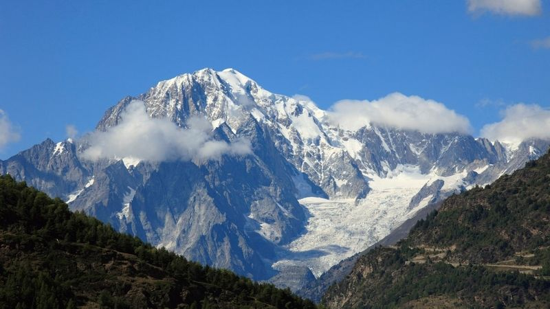 Lavina zabíjela na Mont Blancu, dva mrtví