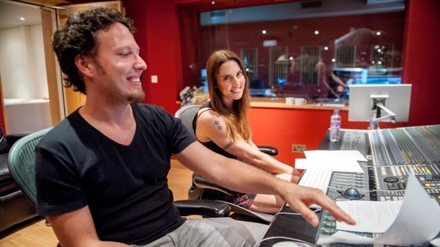 Peter Aristone a Mel C ve studiu