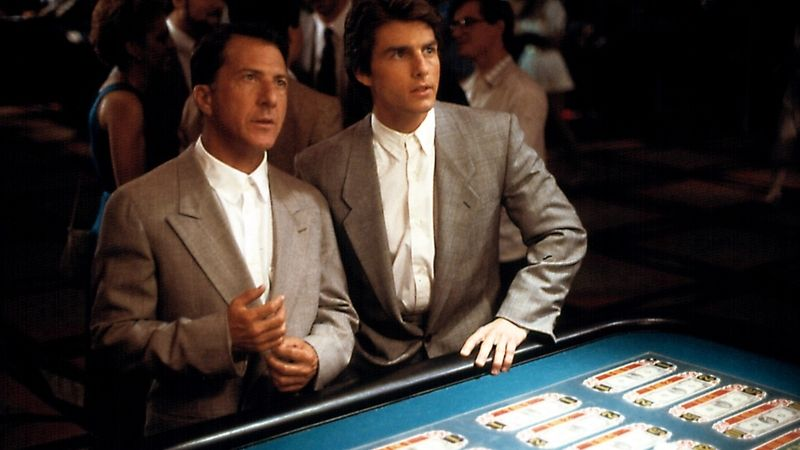 Tom Cruise a Dustin Hoffman ve filmu Rain Man.