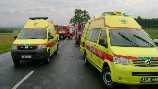 Srážka aut v Ostravě: šest zraněných včetně dětí