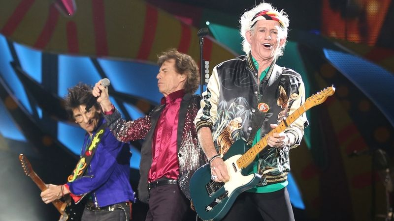 Rolling Stones v Havaně: Keith Richards, Mick Jagger a Ronnie Wood
