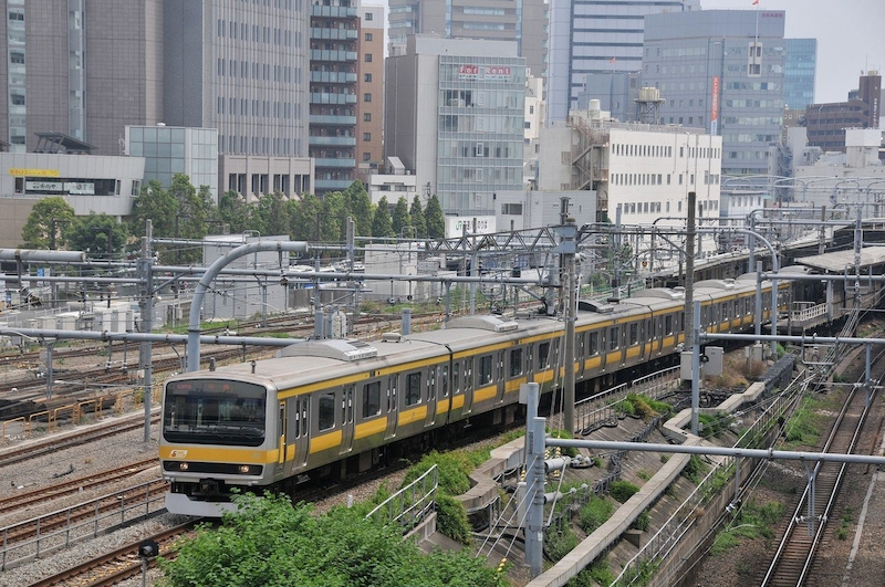 Video o japonském vlaku