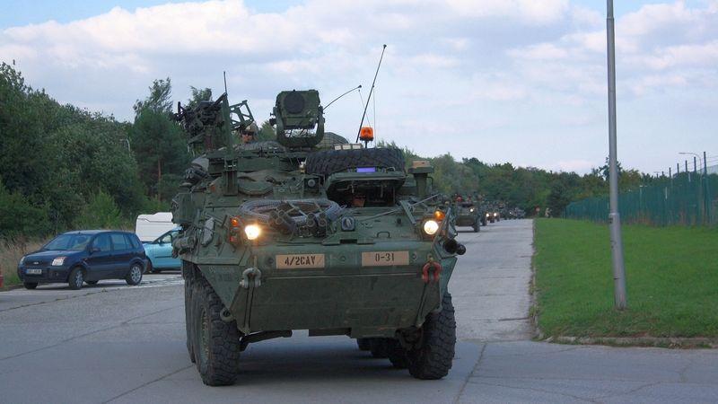 Konvoj americké armády dorazil do Česka