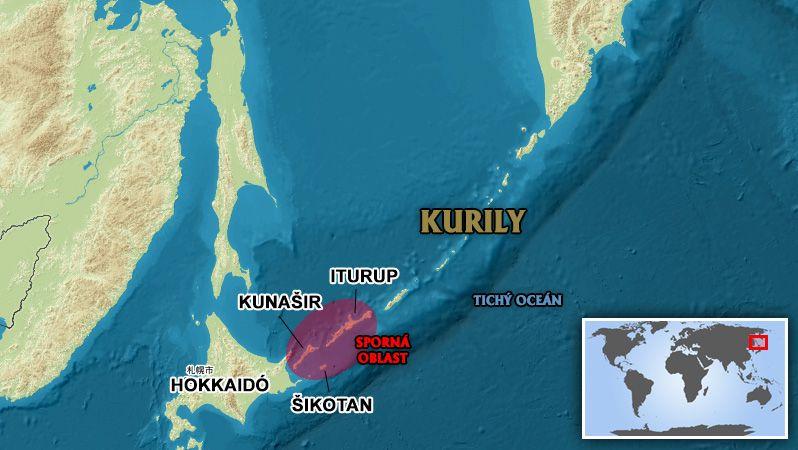 Rus uplaval z Kuril na ostrov Hokkaidó