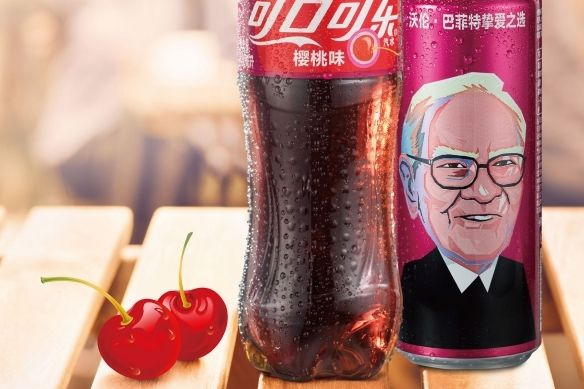 Investor Warren Buffett na plechovce Cherry Coke