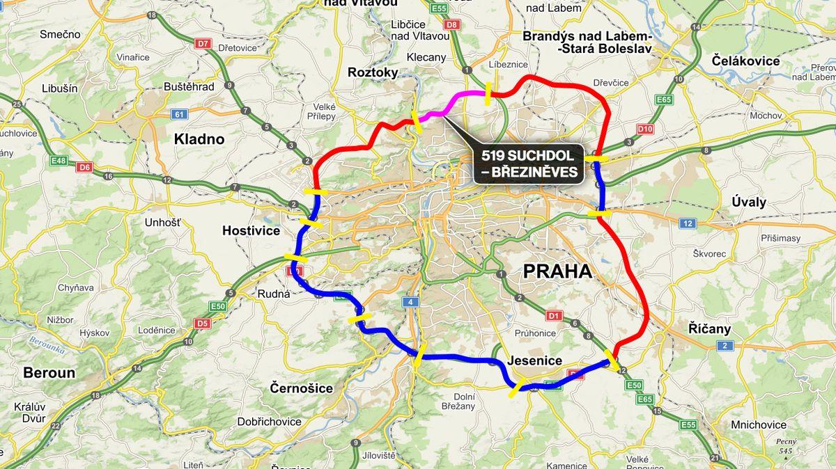 ŘSD zažádalo o posudek k části Pražského okruhu ze Suchdola do Březiněvsi