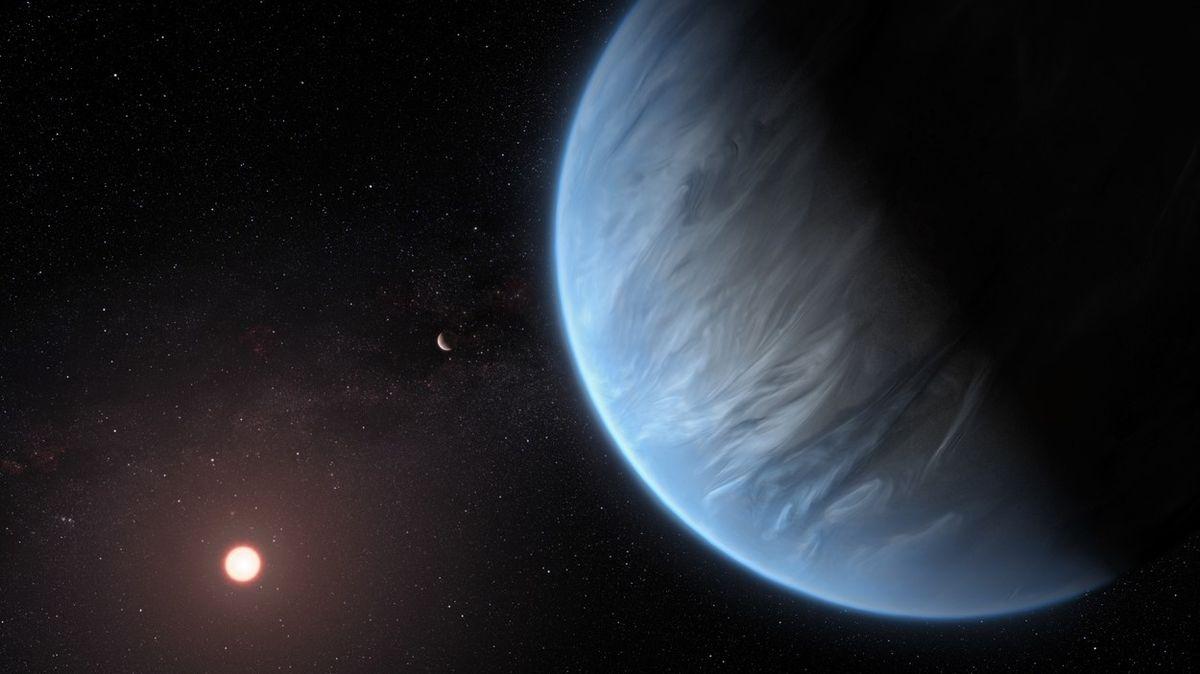Na potenciálně obyvatelné exoplanetě byla poprvé nalezena voda