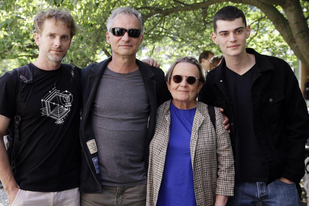 Scenárista Marek Epstein, herec Ivan Trojan, režisérka Agnieszka Hollandová a herec Josef Trojan představili na MFF KV nový film Šarlatán.