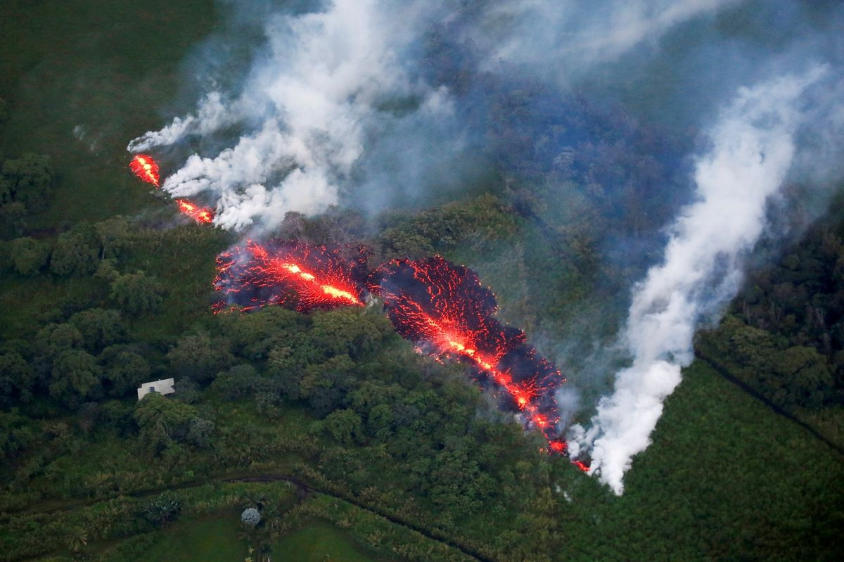 Pictures of the YearLava erupts from a fissure east of the Leilani Estates subdivision during ongoing eruptions of the Kilauea Volcano in Hawaii