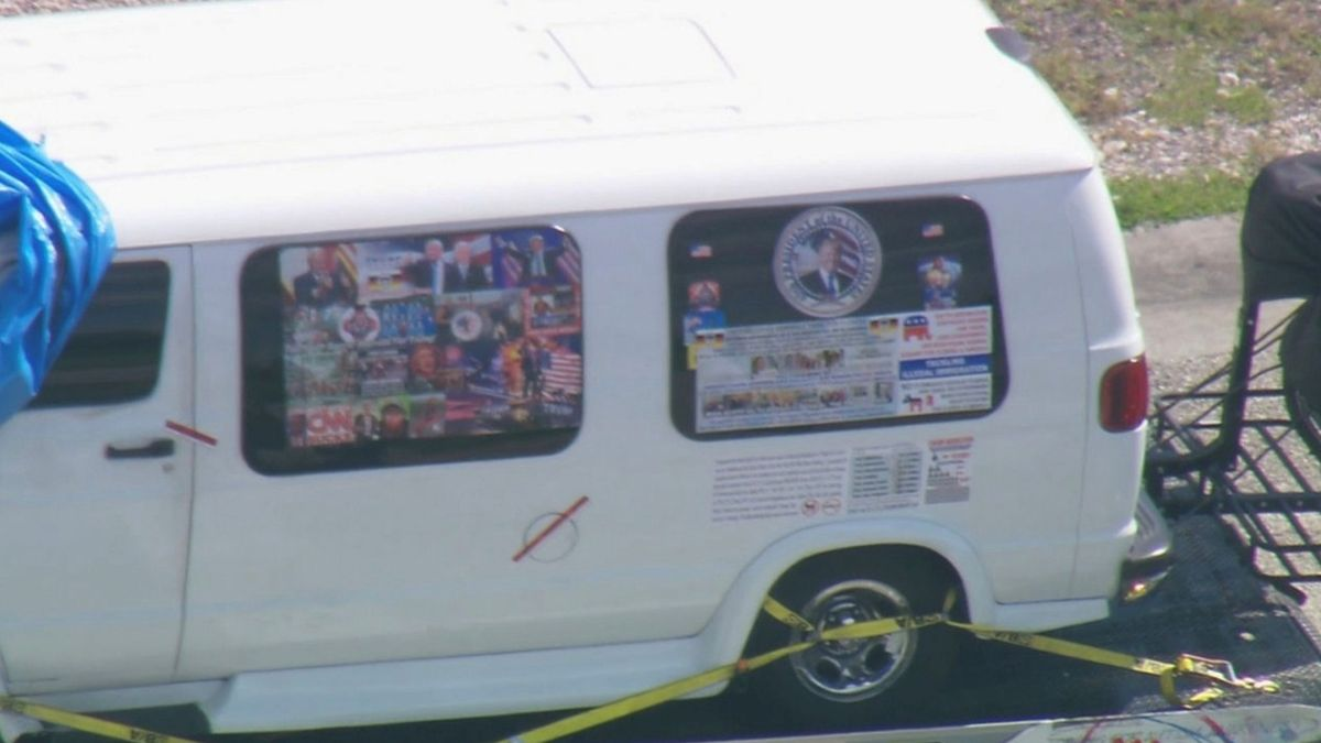 A van which was seized during an investigation into a series of parcel bombs is transported to an FBI facility in MiramarA van which was seized during an investigation into a series of parcel bombs is transported to an FBI facility in Miramar, Florida October 26, 2018 in a still image from video.   WPLG/Local10.com/Handout via REUTERS. ATTENTION EDITORS - THIS IMAGE WAS PROVIDED BY A THIRD PARTY. NO ARCHIVES, NO SALES. MANDATORY CREDIT.