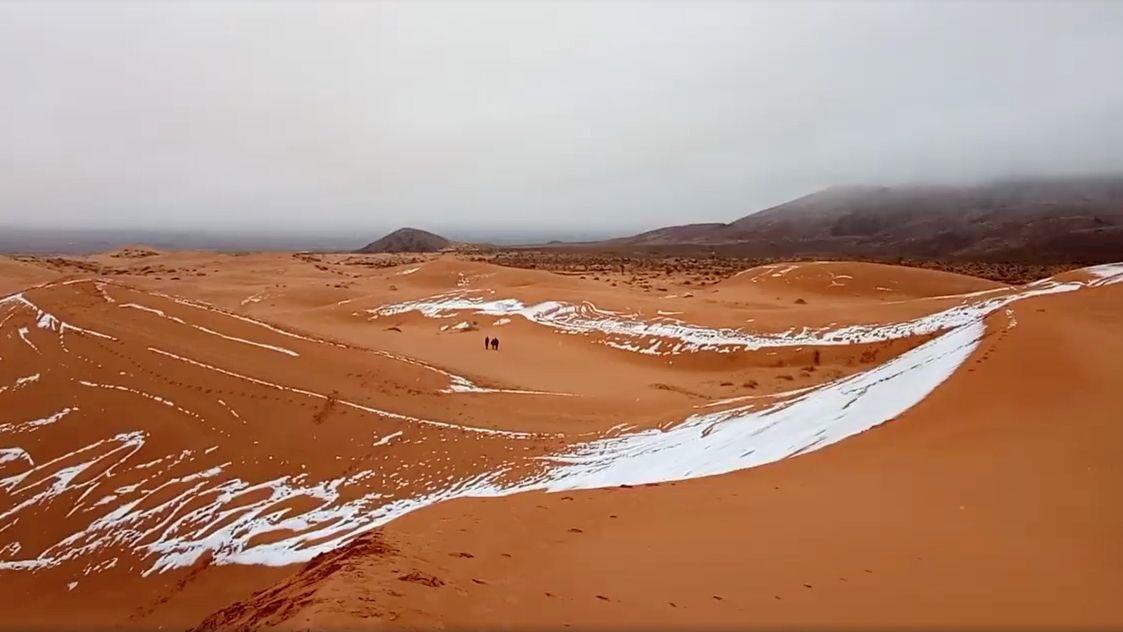 Sníh zasype i Saharu, hlásí meteorologové