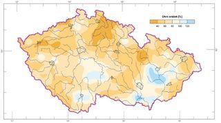 Sucho je podobné jako loni, ačkoliv srážek spadlo více
