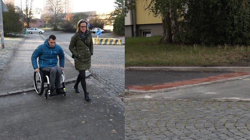 Česká byrokracie v praxi: Dva roky trvalo, než se vozíčkář dočkal snížení obrubníků