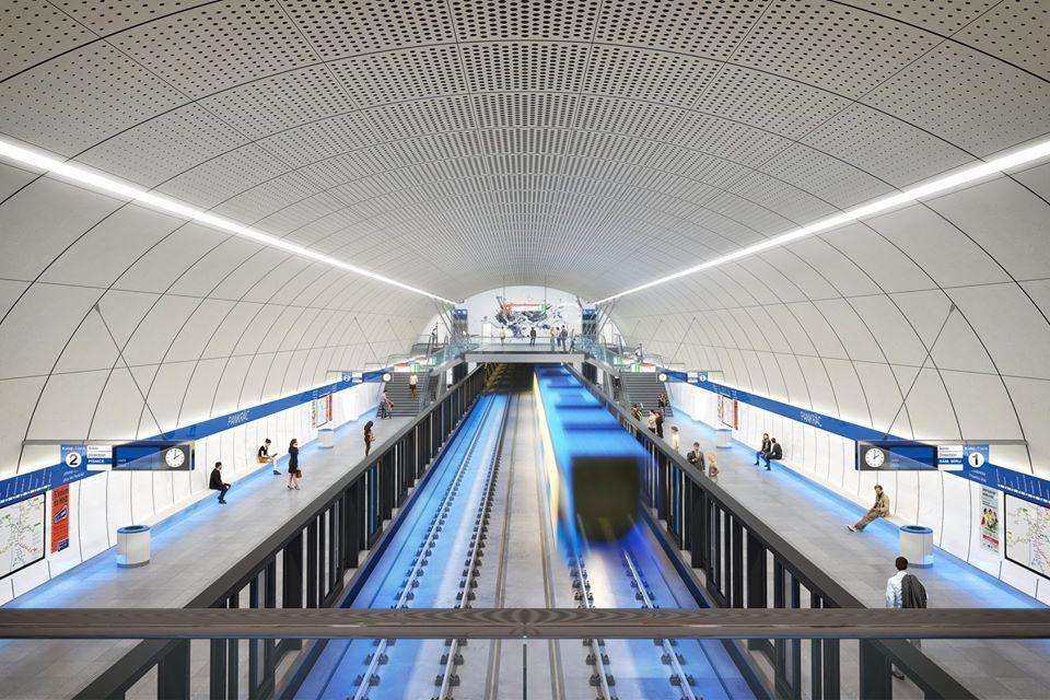 Vizualizace stanice Pankrác