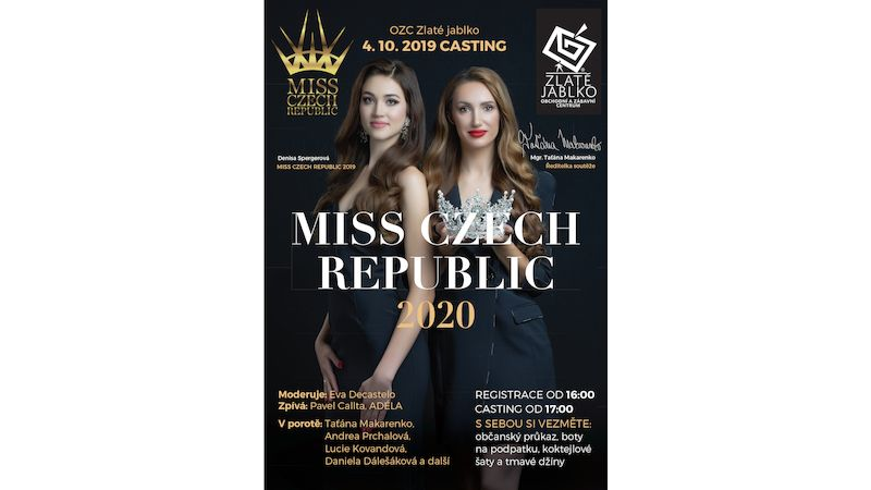 Casting ve Zlatém jablku hledá novou Miss Czech republic 2020