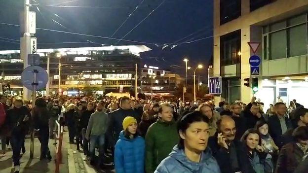 Slováci vyšli opět do ulic kvůli korupční aféře Gorila
