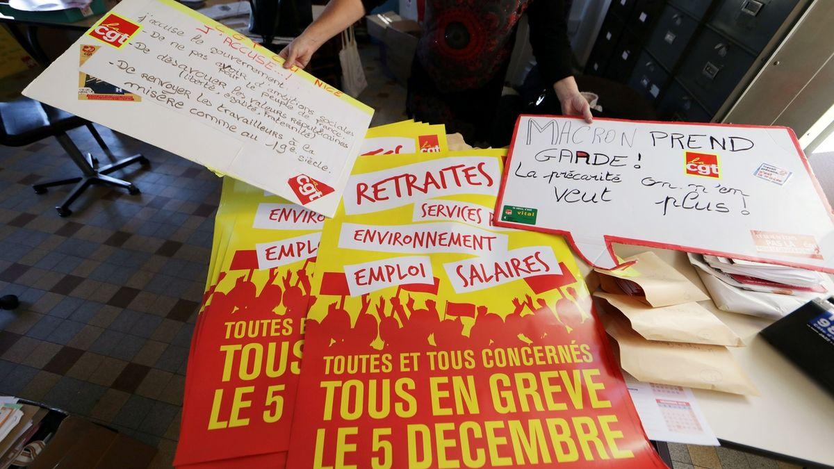 Francii čeká dopravní chaos. Generální stávku pocítí především Paříž