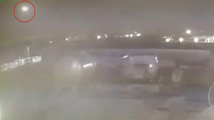 Kamera zachytila sestřelení ukrajinského letadla u Teheránu