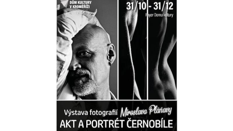 Miroslav Pláňava představí vDomě kultury vKroměříži výstavu portrétů aaktů