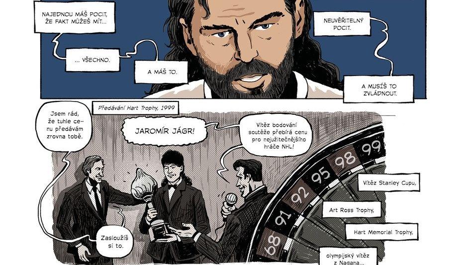 Vyšel komiks o největších úspěších českého hokeje