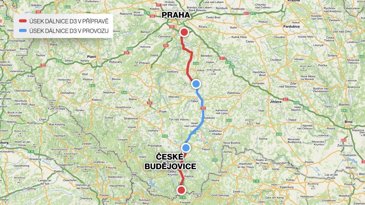 Nový úsek dálnice D3 zrychlí cestu na jih Čech