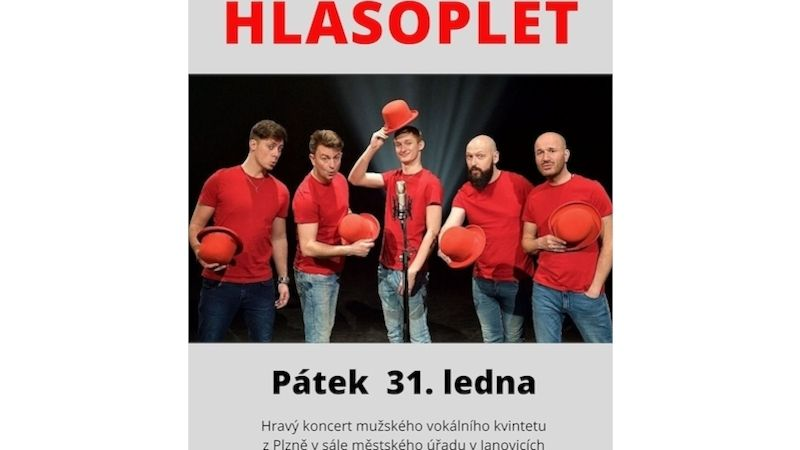 Mužský vokální kvintet Hlasoplet vystoupí vJanovicích nad Úhlavou