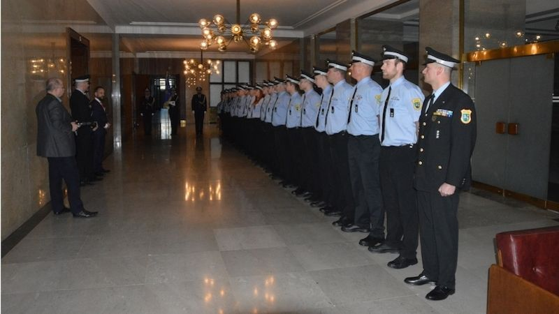 Ostravský primátor přivítal nové strážníky městské policie