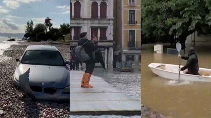Bouře a průtrže na jihu Evropy si vyžádaly už sedm mrtvých