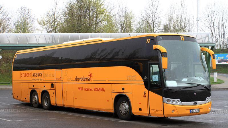 Autobusy začnou jezdit nejdřív do Německa