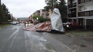 Česko zasáhly bouřky, silný vítr lámal stromy