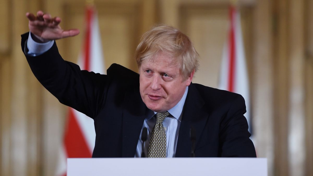 Britský premiér Boris Johnson attends