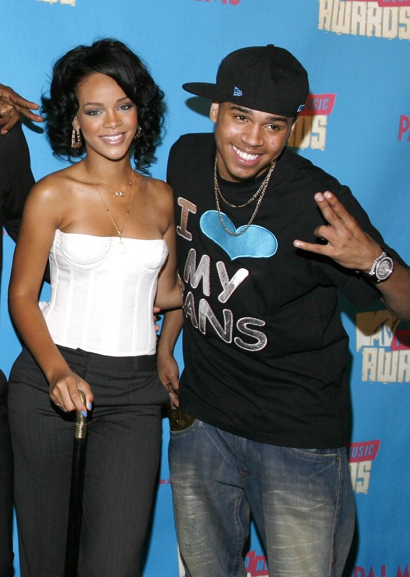 Chris Brown s Rihannou na MTV Music Awards v roce 2007.