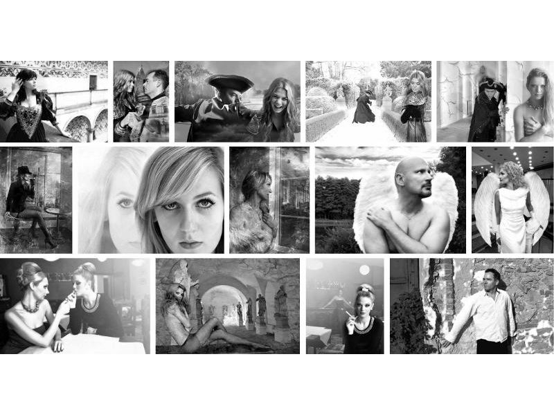 Sex na černobílých fotografiích