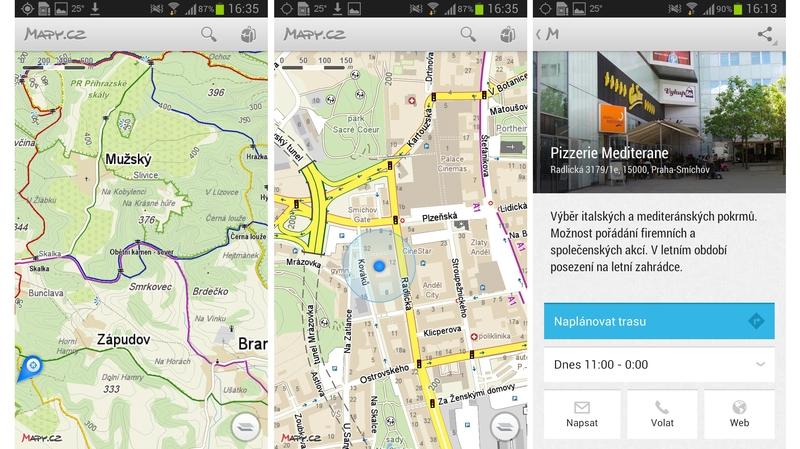 Mobilní aplikace seznamující weby