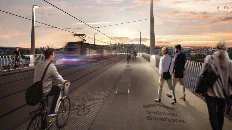 Pražské Podolí a Zlíchov spojí nový most za miliardu