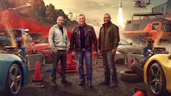 Zleva Chris Harris, Matt LeBlanc a Rory Reid.