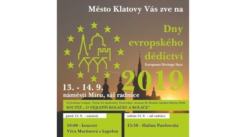 Klatovy si připomenou Dny evropského dědictví