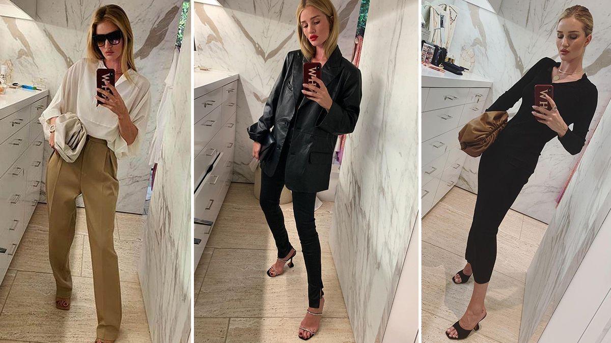 Nahlédněte do šatníku andělské modelky Rosie Huntington-Whiteleyové