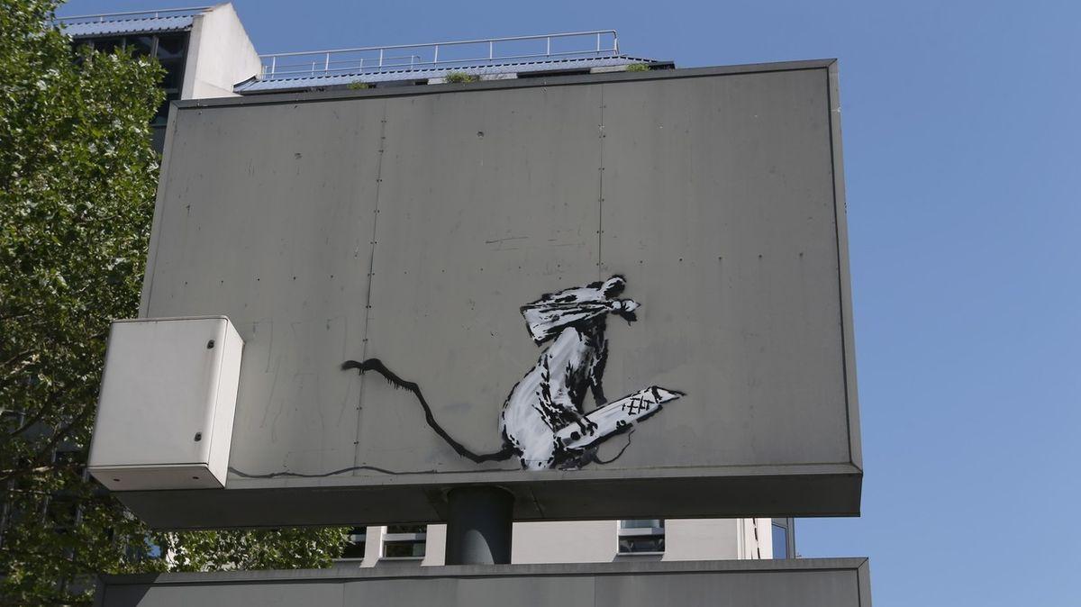 V Paříži bylo ukradeno dílo streetartového umělce Banksyho