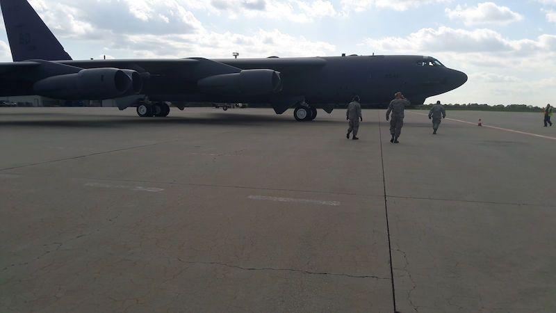 Nad Ostravou kroužil americký bombardér B-52