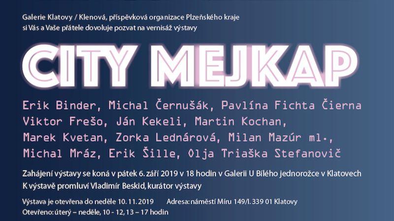 City mejkap: dvanáct vybraných slovenských umělců přináší osobité programy imediální rozptýlení