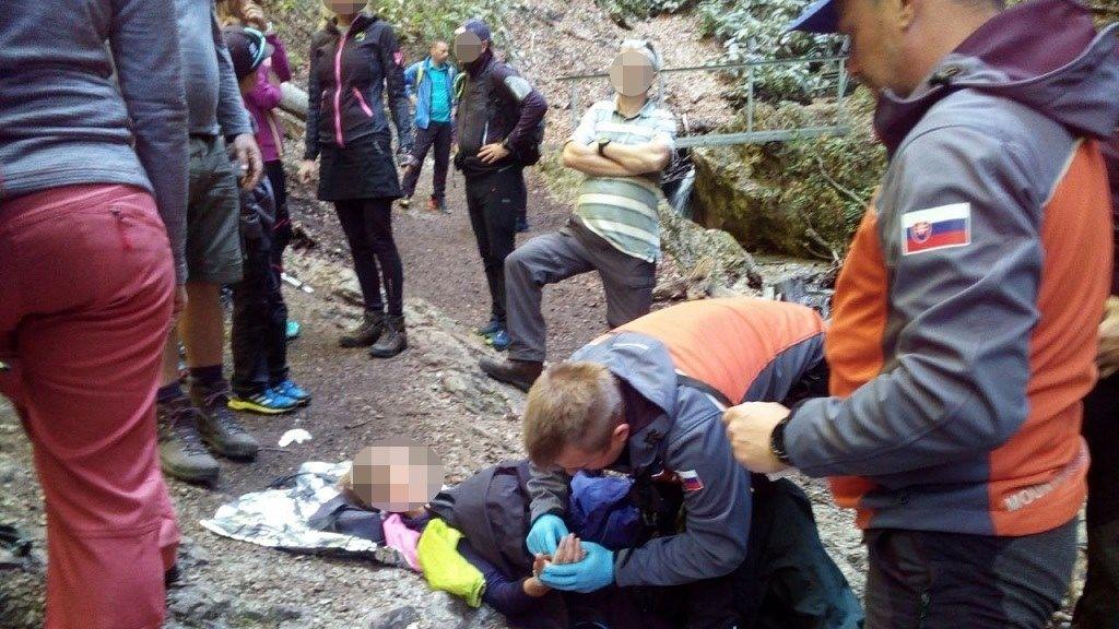Slovenští horští záchranáři pomáhali českým turistům