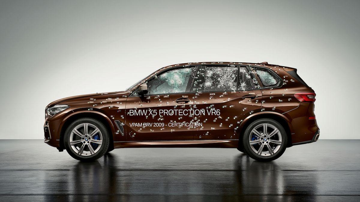 Obrněná verze BMW X5 chrání posádku i proti útoku dronů