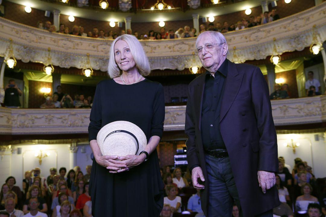 Jiří Suchý a Olga Sommerová představili snímek na karlovarském filmovém festivalu.