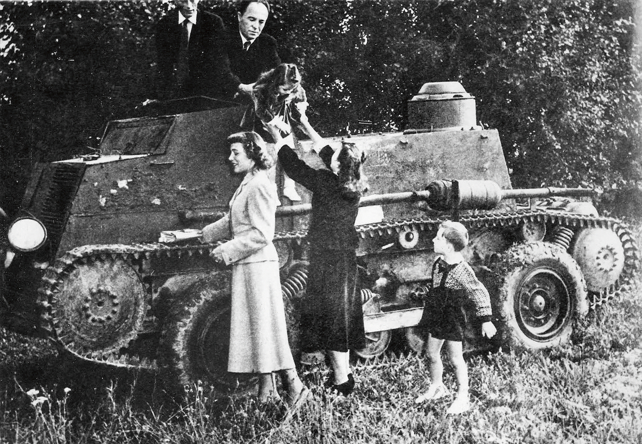 Václav Uhlík managed to escape to Bavaria in a DIY modified tank. Foto: Repro foto Klub vojenské historie a sportů Tachov