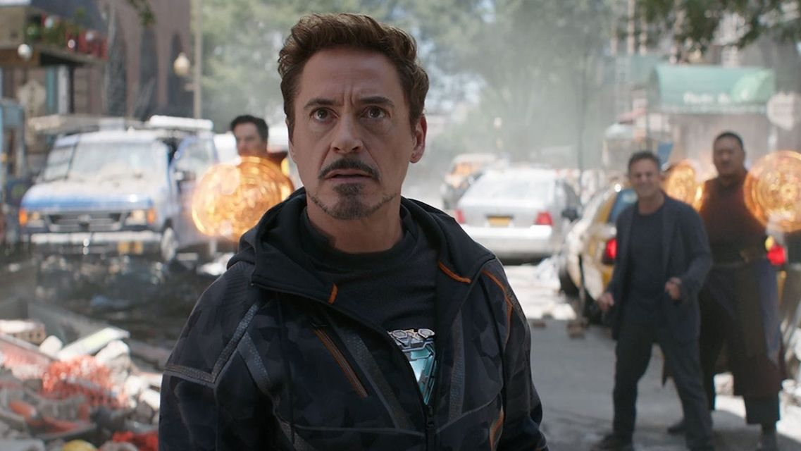 Robert Downey Jr. jako Tony Stark alias Iron Man v Avengers: Infinity War.
