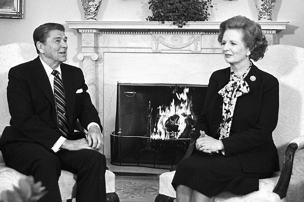 Ronald Reagan a Margaret Thatcherová, 1985