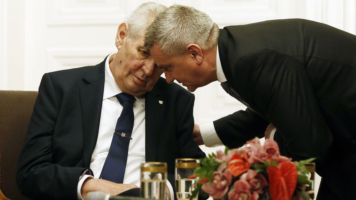 Kancléř Vratislav Mynář s prezidentem Milošem Zemanem