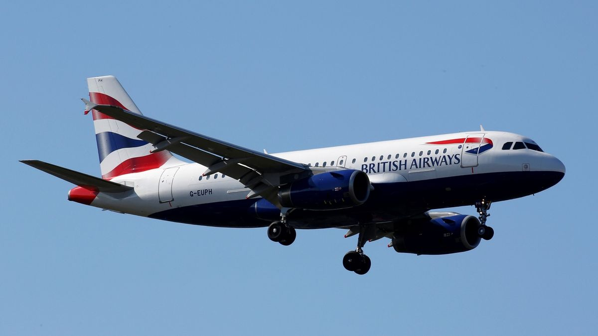 Letoun British Airways Airbus A319