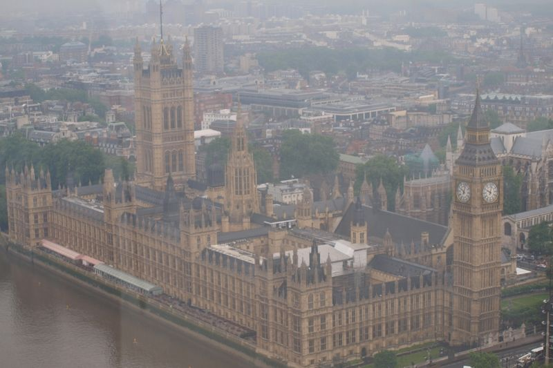 Výhled na Big Ben a Parlament z London Eye
